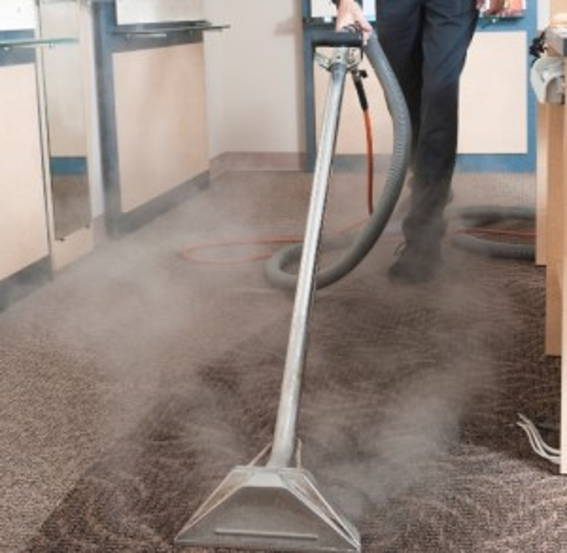 steam extraction system on dirty carpet